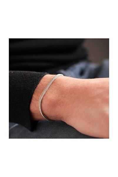 CosiBella Tilki Kuyruğu Gümüş Renk Çelik Erkek Bileklik Künye