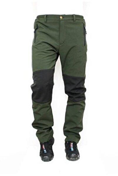 %100 Su Ve Rüzgar Geçirmez Haki Yeşil Softshell Outdoor Pantolon