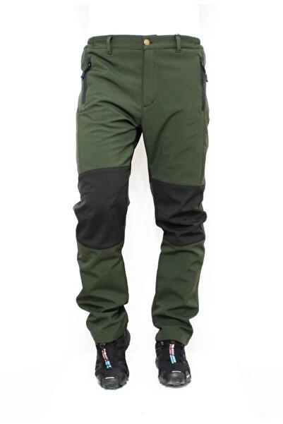 Ysf %100 Su Ve Rüzgar Geçirmez Haki Yeşil Softshell Outdoor Pantolon