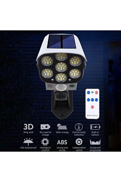 Dream Plus Solar Güneş Enerjili Hareket Sensörlü Güvenlik Kamerası Görünümlü 77 Led'li Dış Mekan Bahçe Garaj