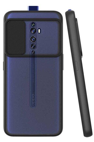 Oppo Reno 2z Uyumlu Kamera Korumalı Kızaklı Şeffaf Sert Kapak