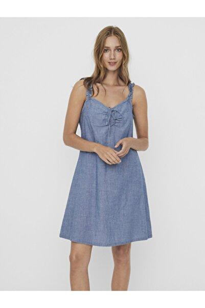 Vero Moda Askıları Fırfırlı Pamuklu Elbise 10244773