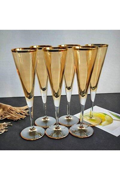 Paşabahçe Flüt Model Bal Kahve Yanı Bardak 6' Lı