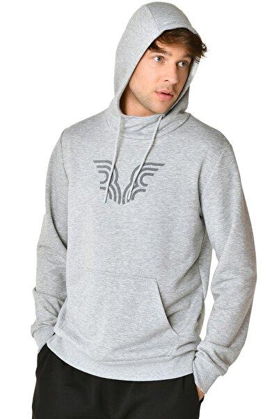 bilcee Erkek Gri Kapüşonlu Sweatshirt Iw-9346