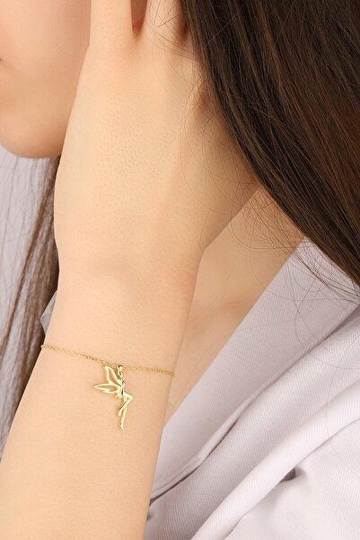 Lia Berto Kadın Altın Kaplama Tinkerbell Su Perisi 925 Ayar Gümüş Bileklik