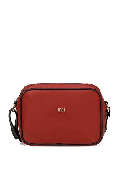 İnci Saca Kırmızı Kadın Çapraz Çanta