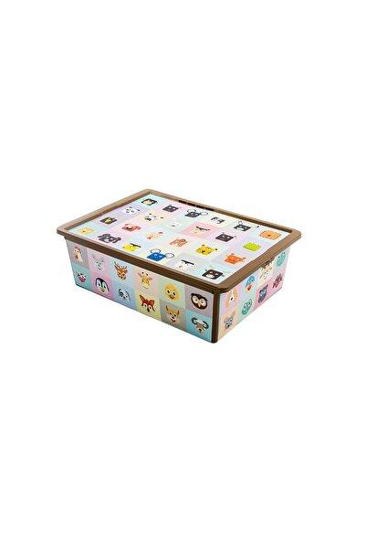 QUTU Trend Box Looking Learning - 25 Litre Oyuncak Saklama Kutusu