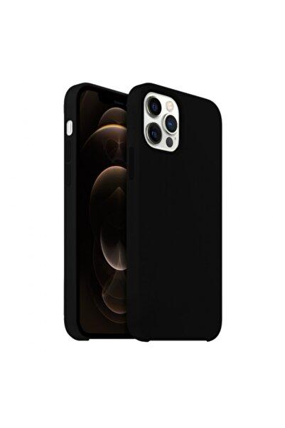 Buff Iphone 12 / 12 Pro Rubber Fit Kılıf Siyah
