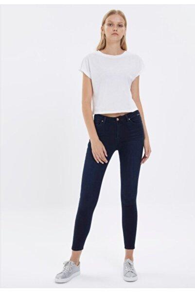 Loft Kadın Lacivert Skinny Fit Pantolon