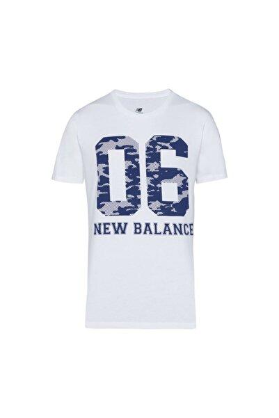 New Balance Erkek Beyaz T-Shirt V-mtt906-wt