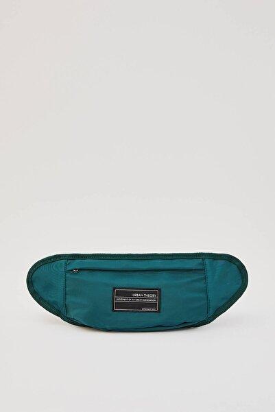 Pull & Bear Erkek Koyu Yeşil Logo İşlemeli Bel Çantası 04820503