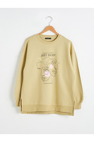 LC Waikiki Kadın Haki Sweatshirt