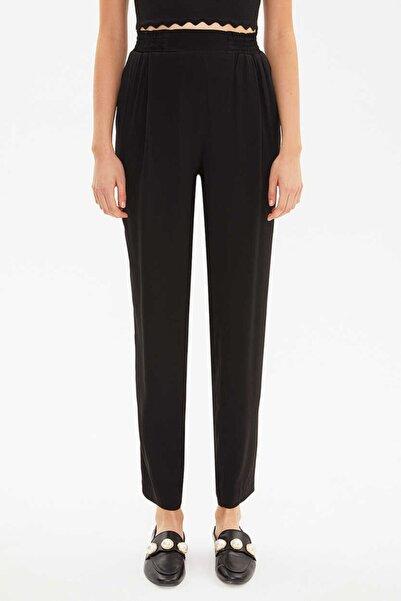 SOCIETA Kadın Siyah Lastikli Bol Kesim Pantolon 41341
