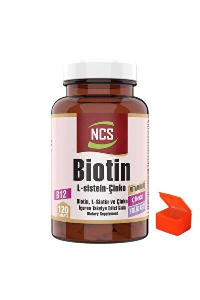 NCS Biotin 2500 Mcg 120 Tablet Çinko Vitamin B12 + Hap Kutusu