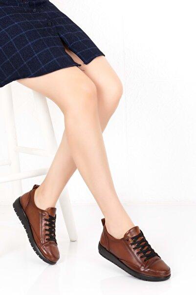Gondol Kadın Taba  Hakiki Deri Ortopedik Taban Günlük Ayakkabı Mik.09 -37