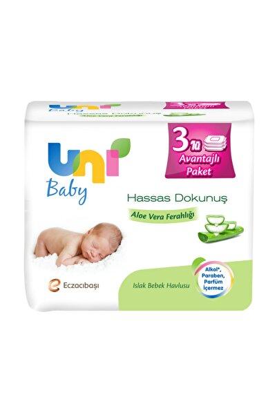 Uni Baby Hassas Dokunuş Aloe Vera Ferahlığı Islak Havlu 3'lü