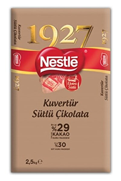 Nestlé 1927 Kuvertür Sütlü Çikolata 2.5kg
