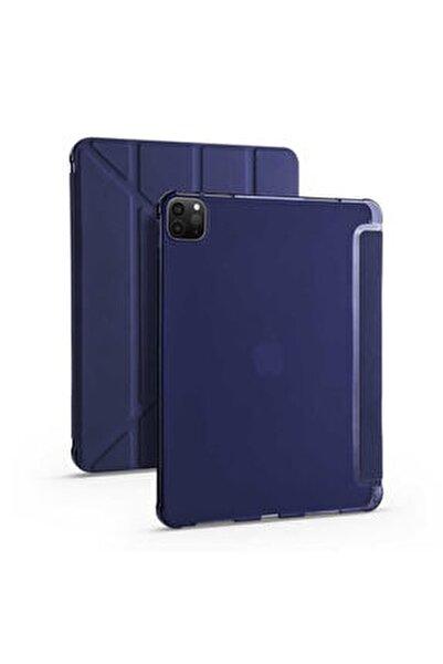 """Apple Ipad Pro 2020 11"""" Tablet Kılıfı Standlı Kalem Yuvalı Koruma Kapaklı Esnek Silikon Kapak"""