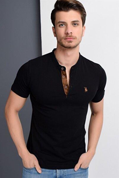 Dewberry Erkek Siyah T-Shirt - 2090001T8560