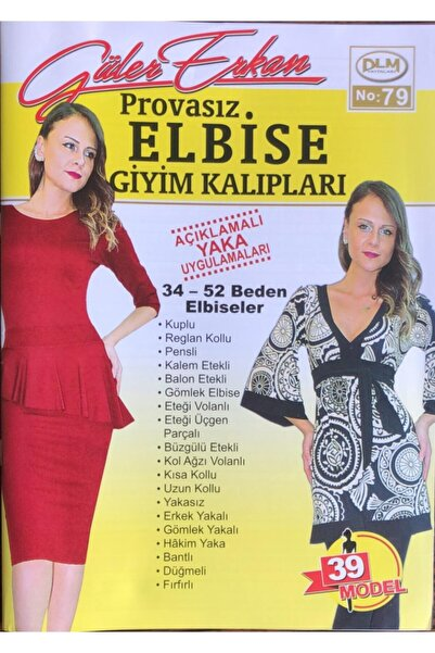 Dilem Yayınları Güler Erkan Provasız Elbise Giyim Kalıpları No:79