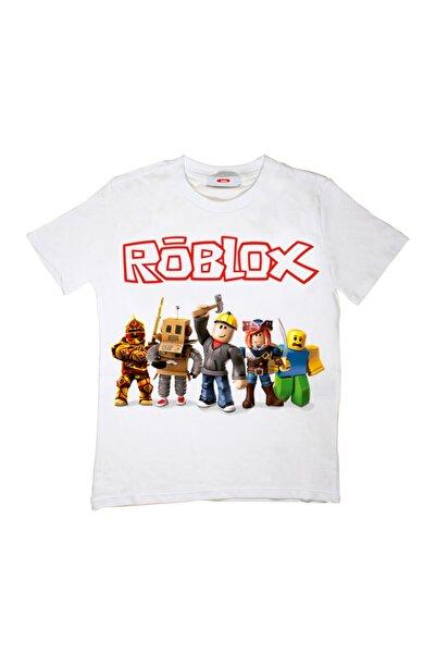 TakeTshirt Roblox Çocuk Tişört Beyaz Unisex