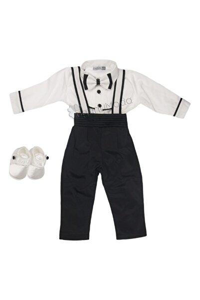 Pugi Baby Siyah Erkek Bebek Papyonlu Smokin Mevlüt Takımı