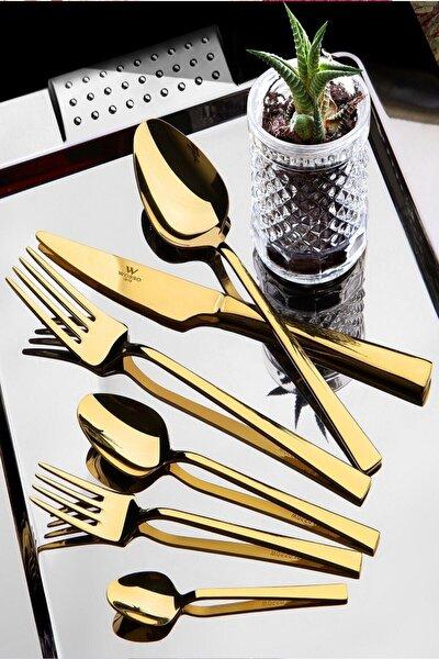 Kitchen Life Gold Çelik 36 Parça Çatal Kaşık Bıçak Seti