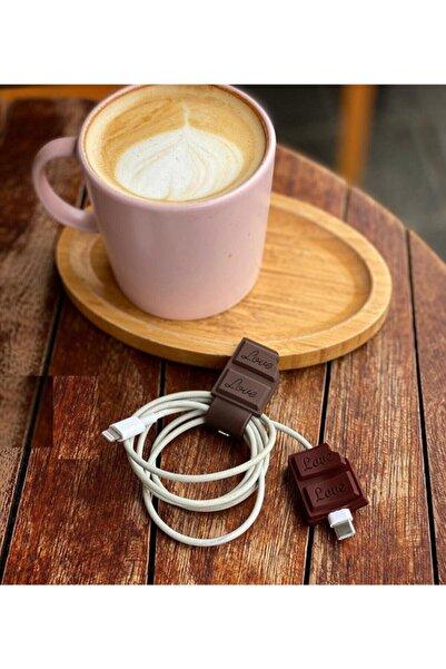 Bilişim Aksesuar Çikolata Kablo Koruyucu Ve Kablo Toparlayıcı Set