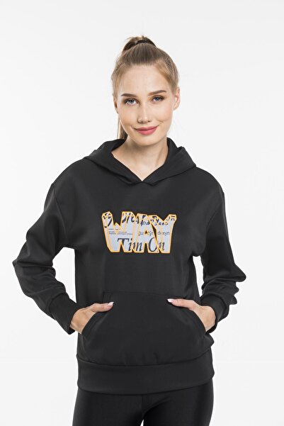 sarıbalon Dalgıç Kumaş Kapişonlu Sweatshirt