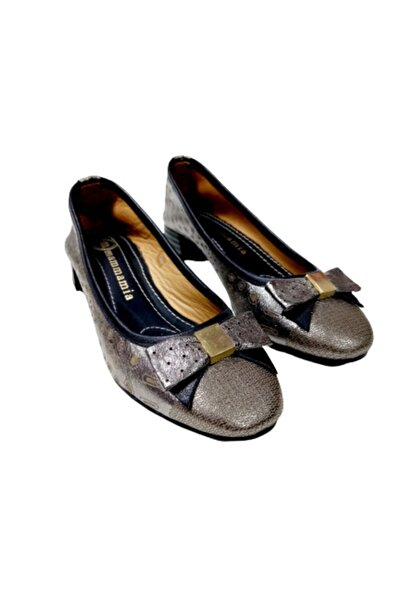 Mammamia Antırasit Gri Kısa Topuklu Kadın Ayakkabı