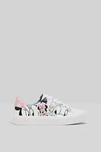 Bershka Minnie Daisy Baskılı Spor Ayakkabı
