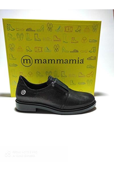 Mammamia Kadın Siyah Ortopedik Şık Rahat Hakiki Deri Günlük Ayakkabı