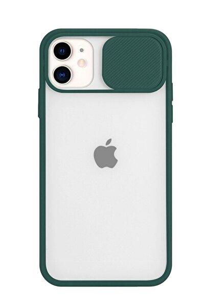 Telehome Iphone 11 Uyumlu Kılıf Slayt Sürgülü Kamera Korumalı Renkli Silikon