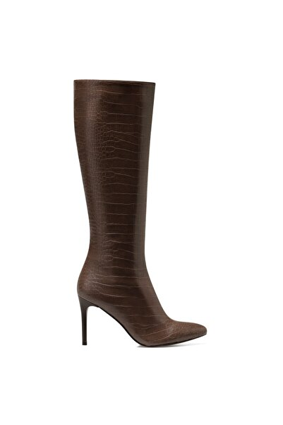 Nine West Karen-cr Kahverengi Kadın Ökçeli Çizme