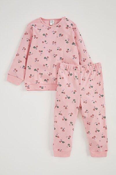 DeFacto Kız Bebek Pembe Sweatshirt ve Eşofman Alt Takım