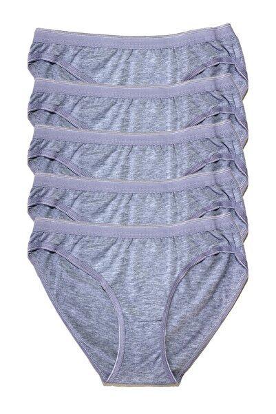 Tutku Kadın Penye Bikini 5li Külot Gri