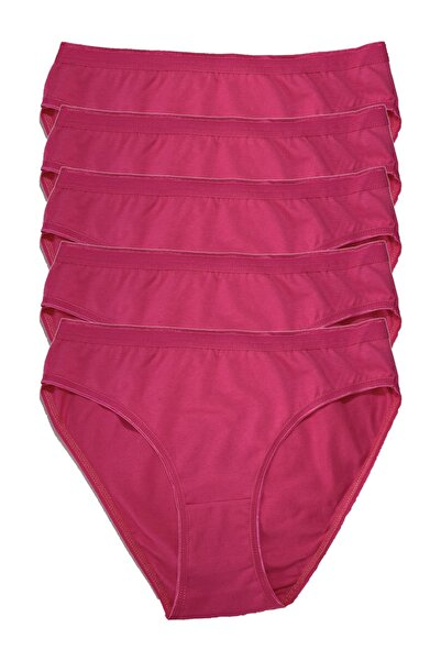 Tutku Kadın Penye Bikini 5li Külot Fuşya