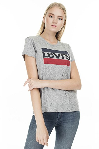 Levi's Kadın Gri Sportswear Logo T-shirt 17369-0303