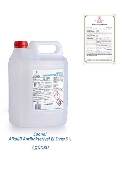 GÜNSU Eponol %70 Alkollü Antibakteriyel El Dezenfektanı 5l