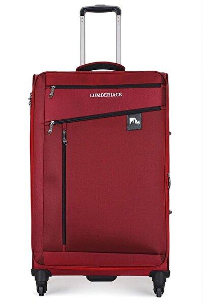 lumberjack Unisex Kırmızı 4 Tekerlekli Büyük Boy Valiz