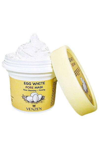 Venzen Egg White Pore Gözenek Maskesi (125g)-gözenek Temizleyici,sıkılaştırıcı Maske