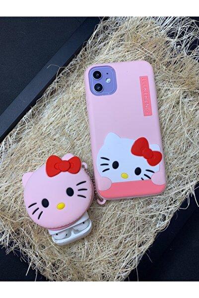 RainbowCover Uyumlu Iphone 6 / 6s Plus Hello Kitty Pembe Cüzdanlı Kılıf