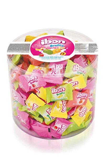 Elvan Ibon Sütlü Meyveli Şeker 1000 Gr. Silindir (1 Kutu)