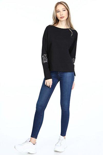 HomeStore Kadın Sıyah Sweatshirt 2065022002801
