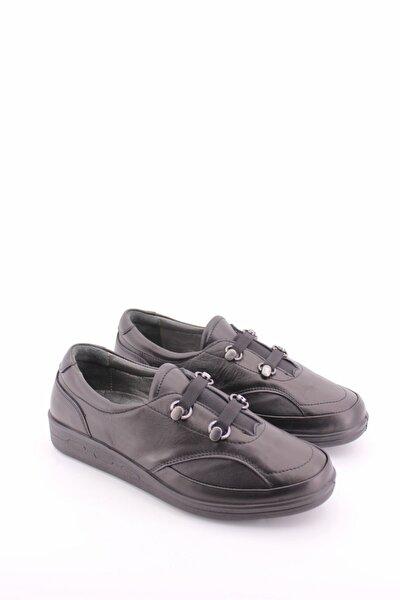 Esse Kadın Siyah Ortopedik Deri Ayakkabı