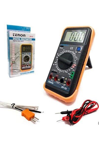 Tenon My-62 Dijital Multimetre, Dijital Avometre, Direnç, Voltaj, Akım, Isı Ölçer