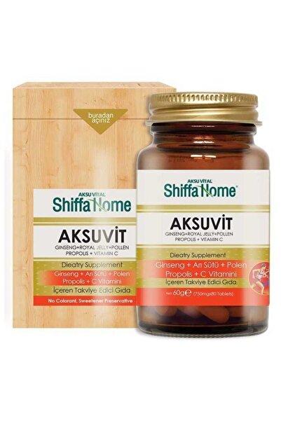 Shiffa Home Aksuvit Ginseng Arı Sütü Polen Propolis C Vitamini 80 Tablet 750 Mg