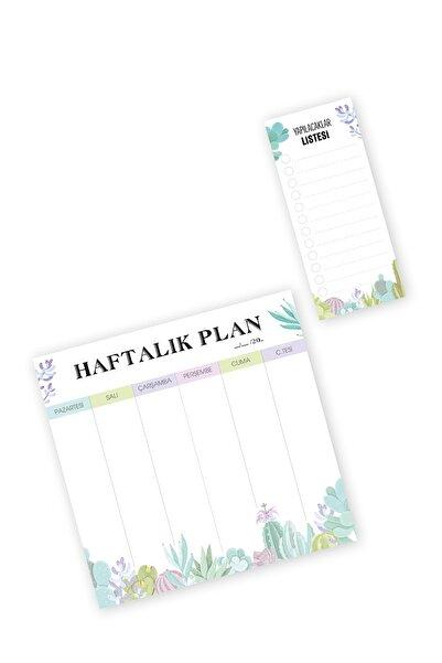 YAPRAK Haftalık Planlayıcı Ve Yapılacaklar Listesi 2 Li Set - Pnld30111