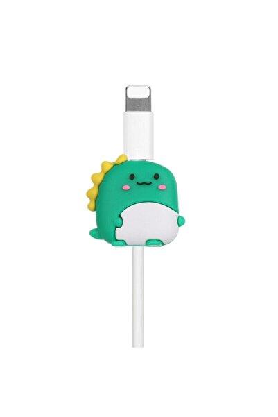 Telehome Yeşil Dinazor Sevimli Kablo Koruyucu