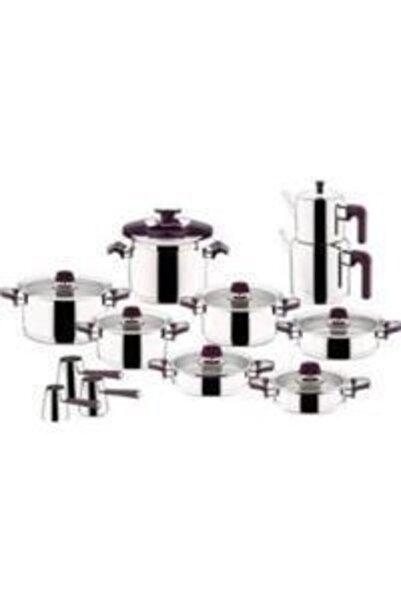 Aryıldız Flamıngo Purple 22 Parça Tencere Takımı